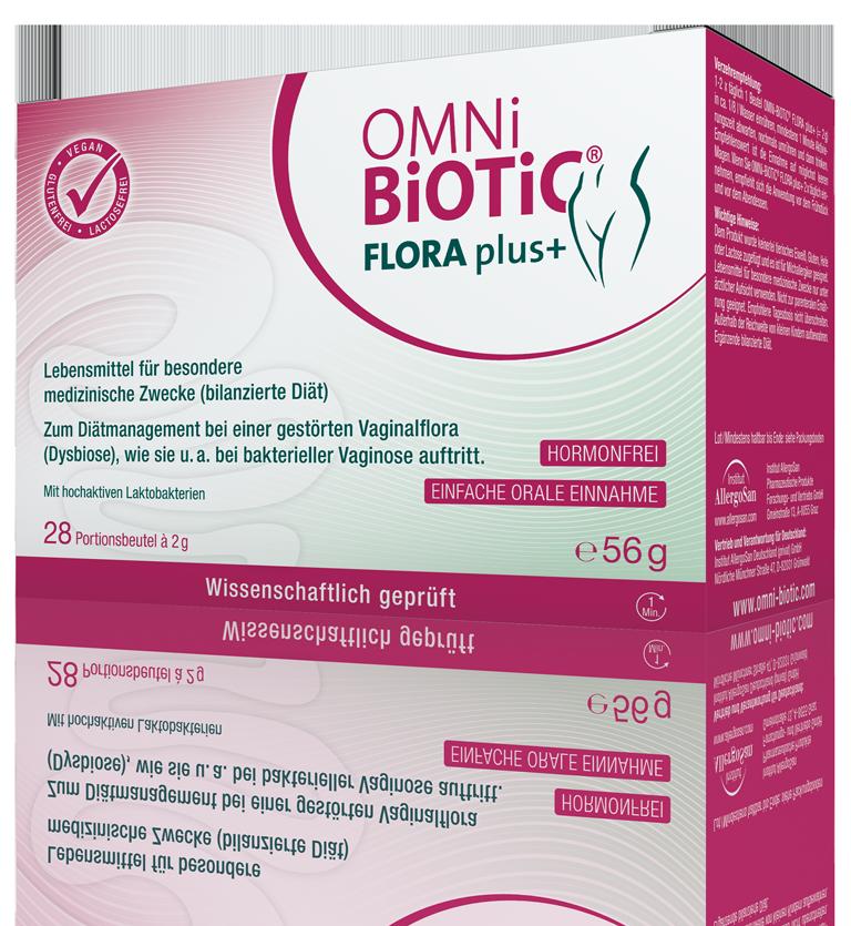OMNi-BiOTiC® FLORA plus+ : Endlich… Scheidenflora OK!