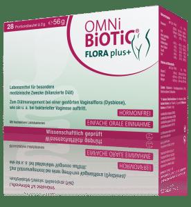 OMNi-BiOTiC® FLORA plus+ bringt die Scheidenflora wieder in Balance – einfach trinken!