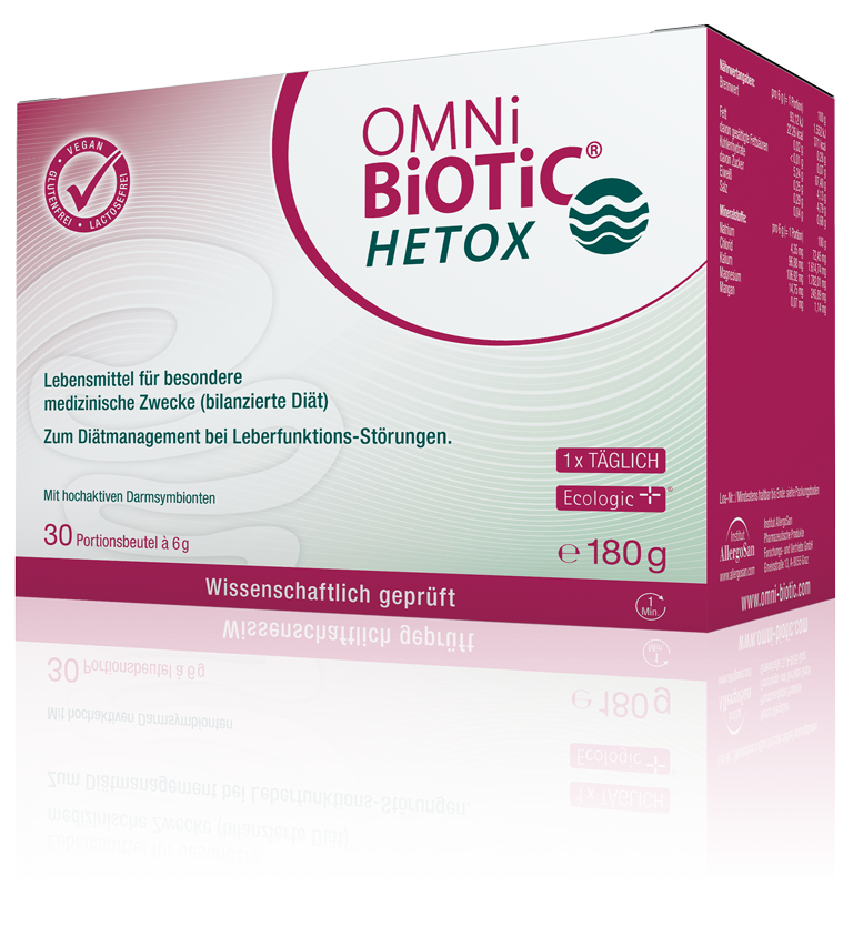OMNi-BiOTiC® HETOX: Unterstützung für die Leber – aus dem Darm