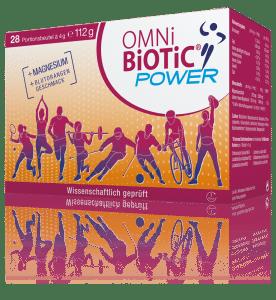 OMNi-BiOTiC® POWER kombiniert 6 in wissenschaftlichen Studien geprüfte Bakterienstämme, ergänzt mit wertvollem Magnesium.