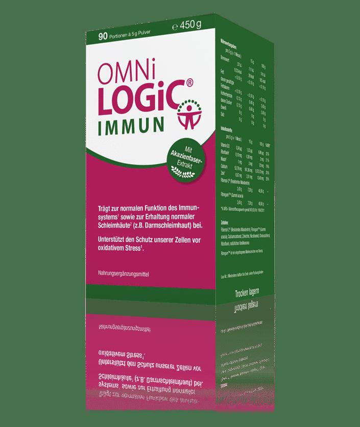 """OMNi-LOGiC® IMMUN bietet eine Nahrungsquelle für die Vermehrung von """"guten"""" Darmbakterien, nämlich Bifidobakterien und Laktobazillen."""