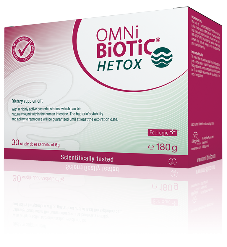 OMNi-BiOTiC® HETOX Relief for the liver – from the gut