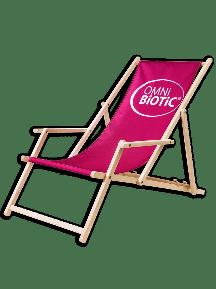 OMNi-BiOTiC® Holzliegestuhl mit Armlehnen